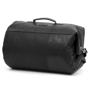 Montreal Classic Leather Black Duffel Bag