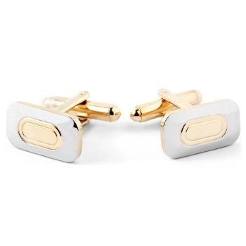Botões de Punho Dourados & Prateados Minimal