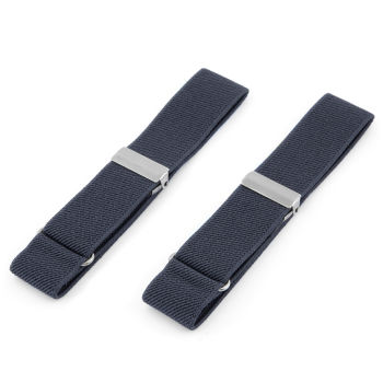 Břidlicově šedé elastické pásky na rukávy