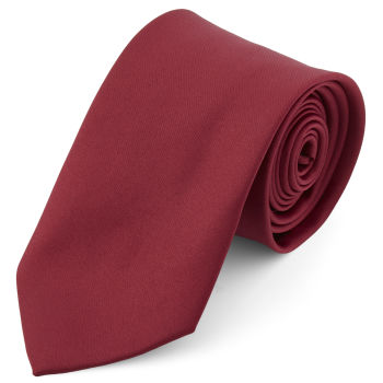 Corbata básica granate 8 cm