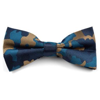 Pajarita camuflaje azul y marrón