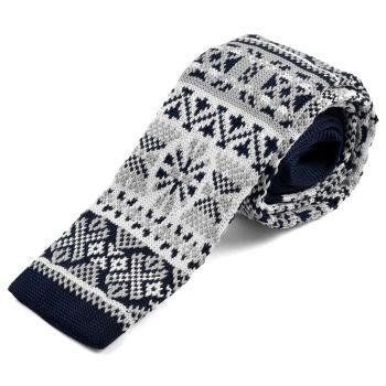 Corbata de punto con diseño nórdico