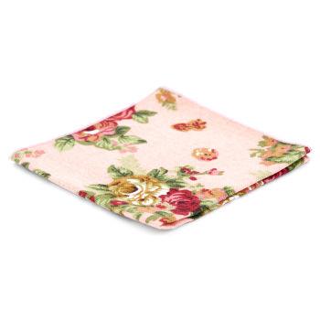Pañuelo de bolsillo floral rosa salmón