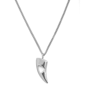Silver Tone Cutout Steel Necklace