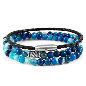 Conjunto de Pulseiras Ranchi Blue Stone