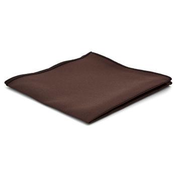 Pañuelo de bolsillo básico marrón oscuro