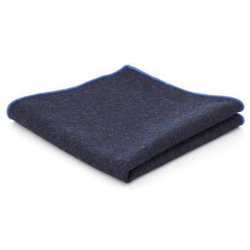 Pañuelo de bolsillo de lana azul marino