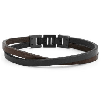 Brown & Black Roy Single Wrap Bracelet