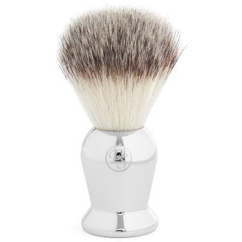 Pincel de Barbear Prateado
