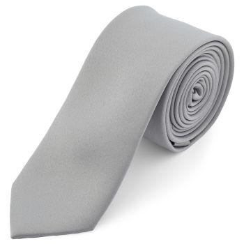 Corbata básica gris claro 6 cm