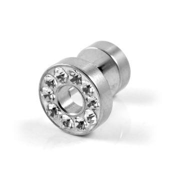 Brinco de Cristal Circular de 8 mm