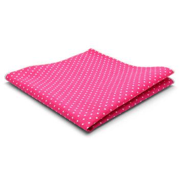 Pañuelo de bolsillo de algodón rosa con lunares
