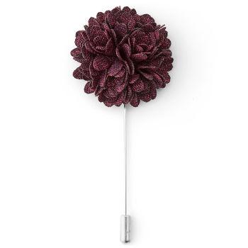Szpilka do marynarki - mahoniowy kwiat