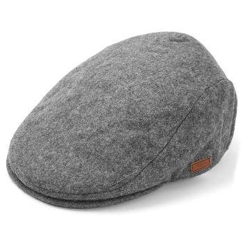 Gorra plana gris ceniza
