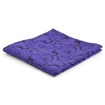 Pañuelo de bolsillo de poliéster con estampado cachemira morado