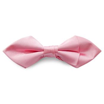 Pajarita básica puntiaguda rosa claro brillante