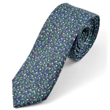 Corbata en algodón azul oscuro Forrest