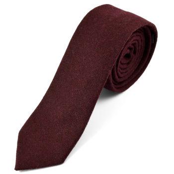 Corbata natural hecha a mano en burdeos oscuro