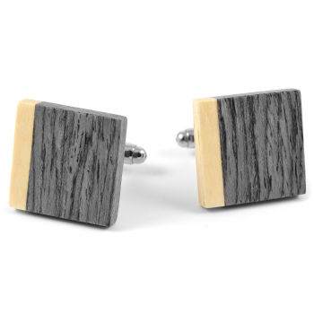 Grey Oak Wood Cufflinks