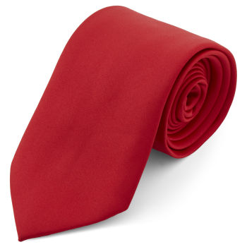 Rote Basic Krawatte 8 cm