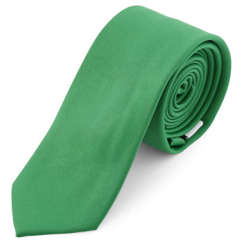 Corbata básica verde esmeralda 6 cm