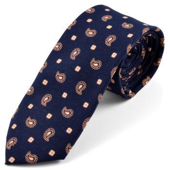 Corbata estampado de cachemira pequeño