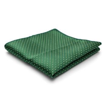 Pañuelo de bolsillo verde con lunares