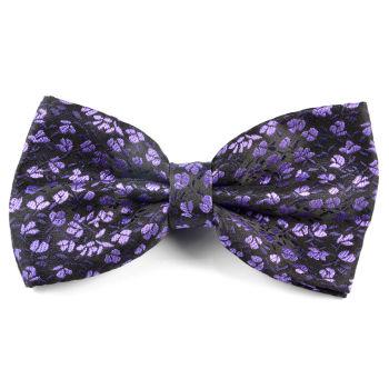 Pajarita púrpura de flores
