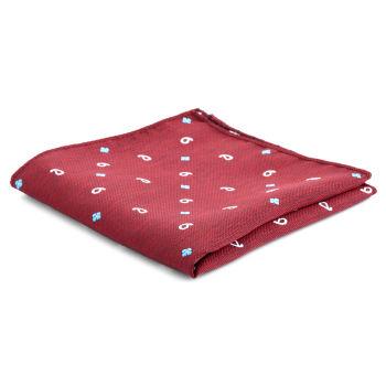 Pañuelo de bolsillo rojo informal