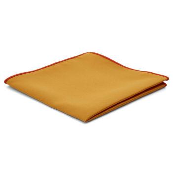 Pañuelo de bolsillo básico ocre