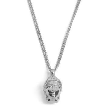 Silver Buddha Steel Necklace