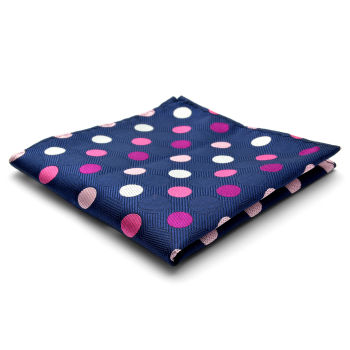 Pañuelo de bolsillo de seda con lunares