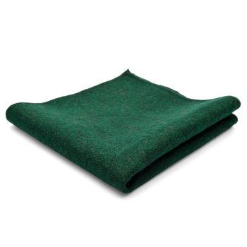 Pañuelo de bolsillo de lana pura artesanal verde