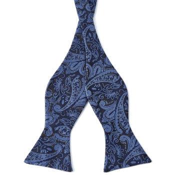 Pajarita para atar con estampado cachemira azul