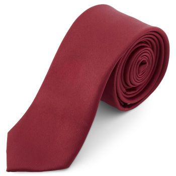 Cravatta basic 6 cm bordeaux