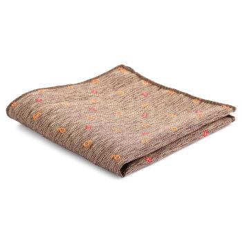 Pañuelo de bolsillo informal marrón