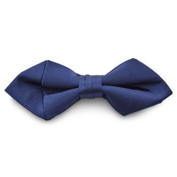 Pajarita básica puntiaguda azul marino brillante