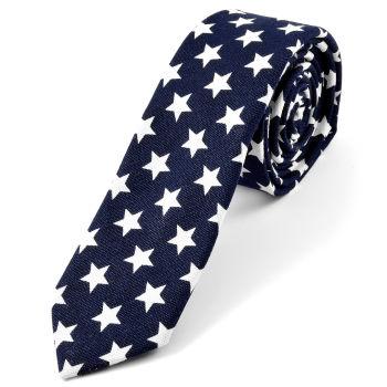 Corbata azul con estrellas