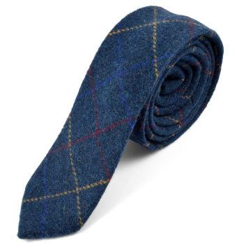 Corbata natural hecha a mano a cuadros