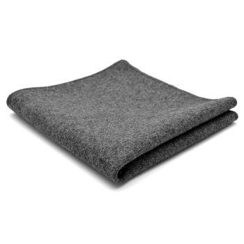 Pañuelo de bolsillo de lana artesanal gris claro
