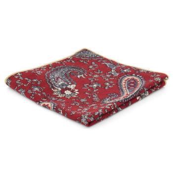 Pañuelo de bolsillo rojo con estampado cachemira