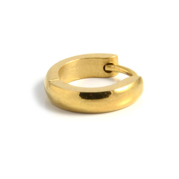 Classic Gold Round Earring