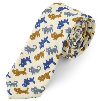 Krawat w kreskówkowe koty