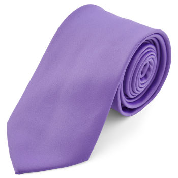 Corbata básica lila 8 cm