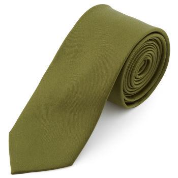 Corbata básica verde oliva 6 cm