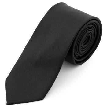 Semplice cravatta nera da 6 cm