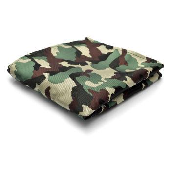 Pañuelo de bolsillo en verde/marrón de camuflaje
