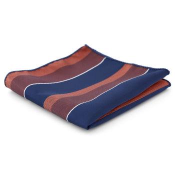 Pañuelo de bolsillo a rayas azules y granates