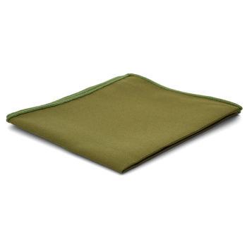 Pañuelo de bolsillo básico verde oliva