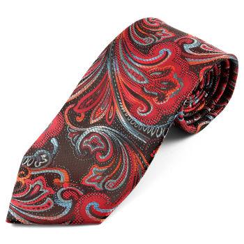 Corbata de seda con estampado de cachemira de flores
